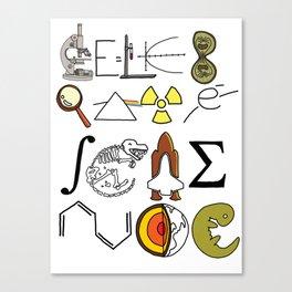Celebrate Science Canvas Print