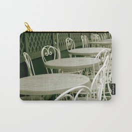 Cafe Table and Chairs - sepia Carry-All Pouch