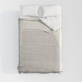 Relief [2]: an abstract, textured piece in white by Alyssa Hamilton Art Duvet Cover