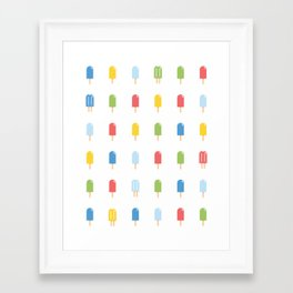 Popsicle - Bright #426 Framed Art Print
