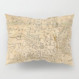 Map of Anxi and Qinghai Outside of Jiayuguan, China (1864) Pillow Sham