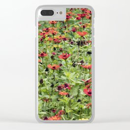 Orange, Yellow, and Red Zinnia Field in Nicaragua Clear iPhone Case