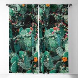BOTANICAL - CACTI - CACTUS - NATURE - FLORAL Blackout Curtain