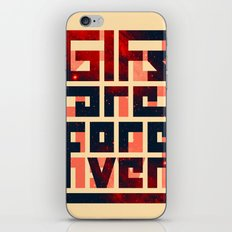 GIFs are forever iPhone & iPod Skin
