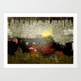 Abstract III - Rising Sun Art Print
