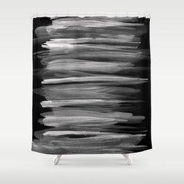 Gray White on Black Abstract Minimalism #1 #minimal #ink #decor #art #society6 Shower Curtain