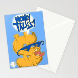 Money talks Stationery Cards