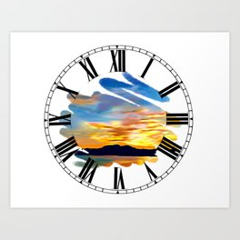 BJ's Sunset Art Print