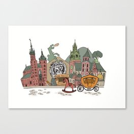 Old Europe. Krakow Canvas Print