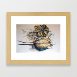 experiments in drawing Framed Art Print