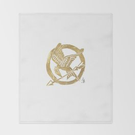 Mocking Jay Throw Blanket