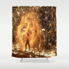 Explosions Shower Curtain