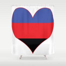 Polyamorous Heart Shower Curtain