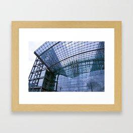 Facade - Train station - Berlin Framed Art Print