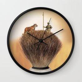Shaving Brush Savanna Wall Clock