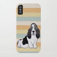 the hound iPhone & iPod Cases featuring Basset Hound by Tammy Kushnir