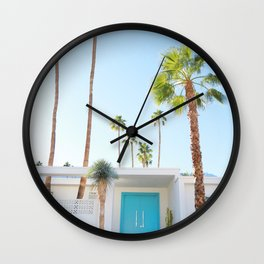 PS, Blue Door 2 Wall Clock