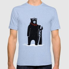 Bear on snowboard MEDIUM Mens Fitted Tee Tri-Blue