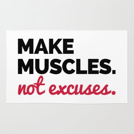 Make Muscles Gym Quote Rug