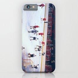 Vintage Ice Hockey Match iPhone Case