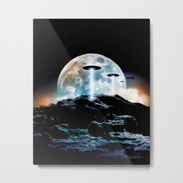 The Seeding (UFO Moon Mountain) Metal Print