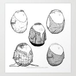 One Direction Eggs Art Print