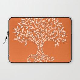 Tree of Life Orange Laptop Sleeve
