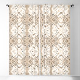 Beige abstract pattern . Blackout Curtain
