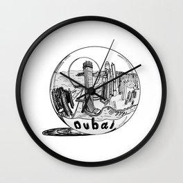 Dubai in a glass bowl . illustration Wall Clock
