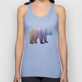 Misty Forest Bear - colorful rainbow Unisex Tank Top
