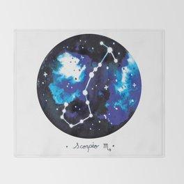 Scorpio Constellation Watercolour Throw Blanket