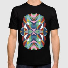 Abstract Kite Mens Fitted Tee MEDIUM Black