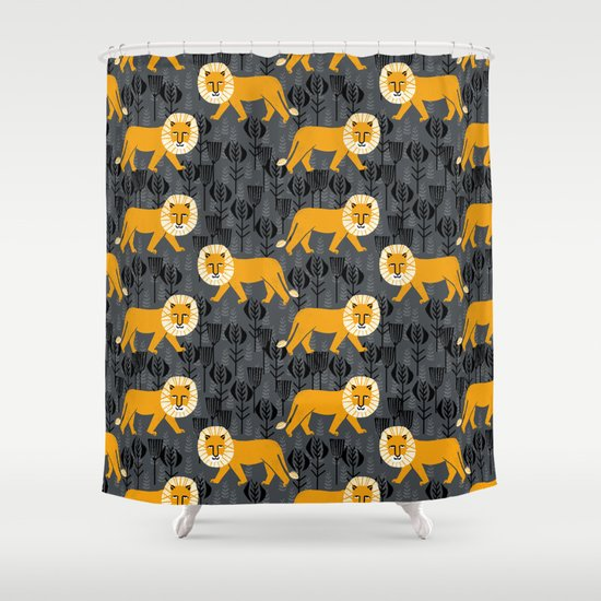 Safari Lion by Andrea Lauren Shower Curtain