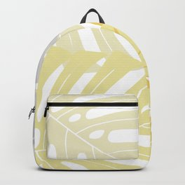 Yellow tropical leaves Backpack