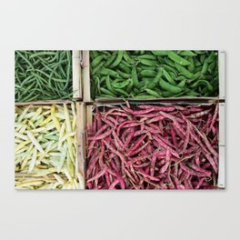 Beans of various colors Canvas Print