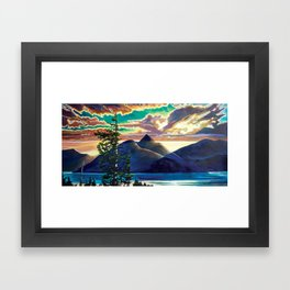 Into The Glow Framed Art Print