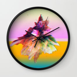 Clashing Stars Print Wall Clock