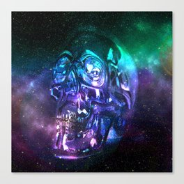 vaporwave skull Canvas Print