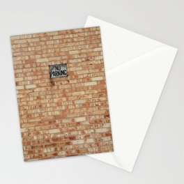 No Parking Stationery Cards