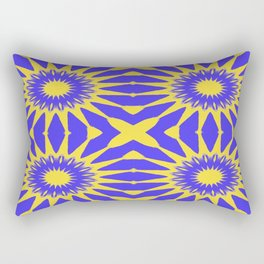 Purple & Yellow Pinwheel Flowers Rectangular Pillow