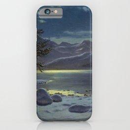 Moonlit Lake, Winter Landscape by Ivan Fedorovich Choultsé iPhone Case