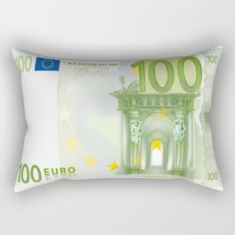 100 Euro Note Rectangular Pillow