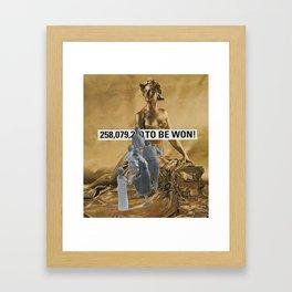 """""""258,079,200 T0 BE WON"""" Framed Art Print"""