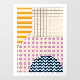 Abstract Geometric Art Print
