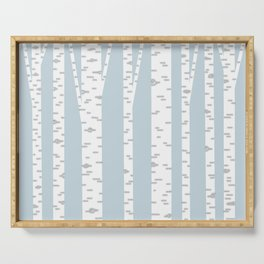 Minimalist Birch Trees by Amanda Laurel Atkins Serving Tray