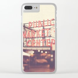 Seattle Pike Place Public Market photograph, 620 Clear iPhone Case