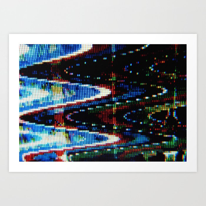 VHS-STYLE DISTORTION Art Print by azx309
