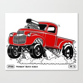 1946 Chevy Pick-up – RED Canvas Print