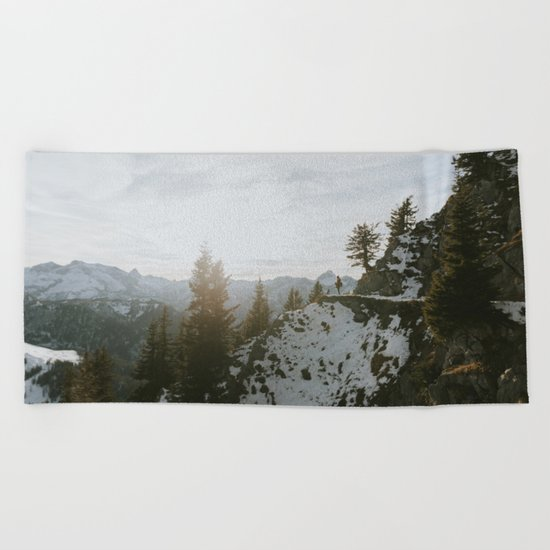 Taking in the view - Landscape Photography Beach Towel