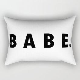 BABE. Rectangular Pillow